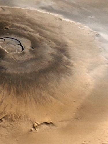 gunung berapi di mars