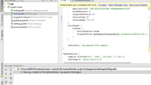 Cara Mengatasi Error org.apache.http.legacy di Android Studio