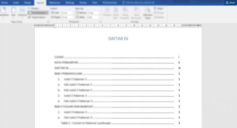 Cara Membuat Daftar Isi Otomatis di Word Praktis Buat Skripsi