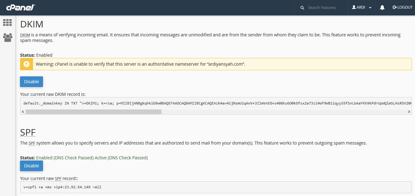 Cara Setting Email Agar Tidak Dicurigai SPAM dengan DKIM dan SPF