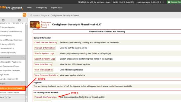 Cara Install dan Setting CSF Firewall di cPanel