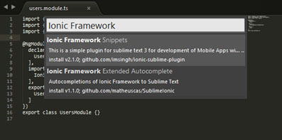 Cara Instal Plugin Sublime Text untuk Ionic