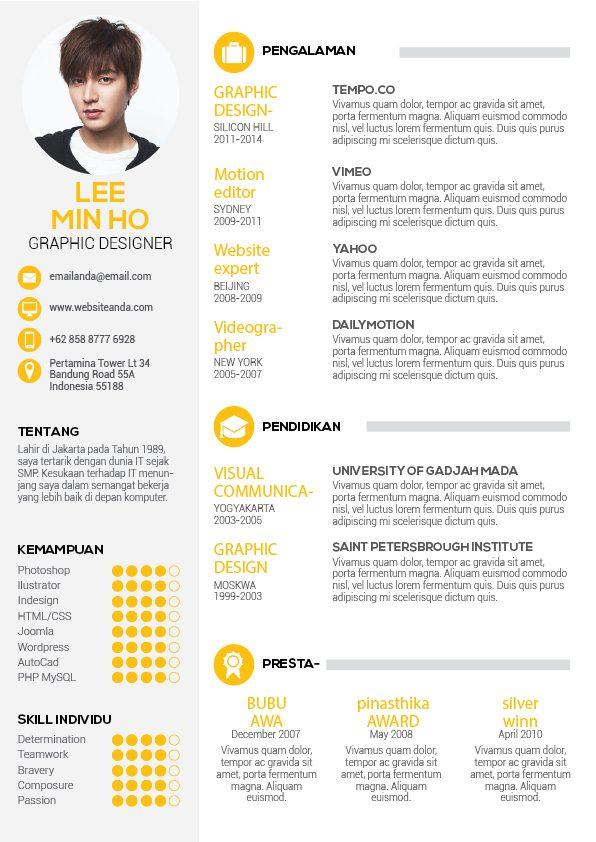 Kumpulan Desain CV Menarik
